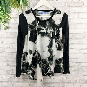 Simply Vera • Asymmetrical Black & White Top